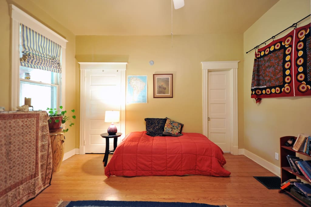 Downstairs bedroom with adjoining bath