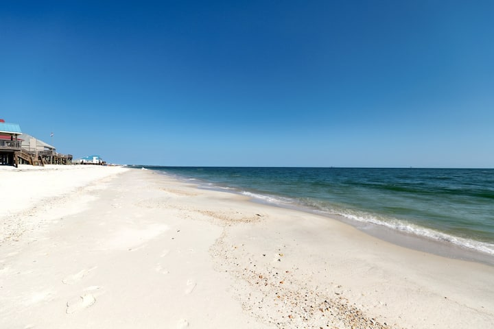 Dog-friendly gulf-front home with amazing views and easy access to the beach