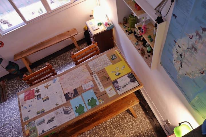 距離宜蘭火車站步行5分鐘/3+1人女生宿舍(Girl's Room)