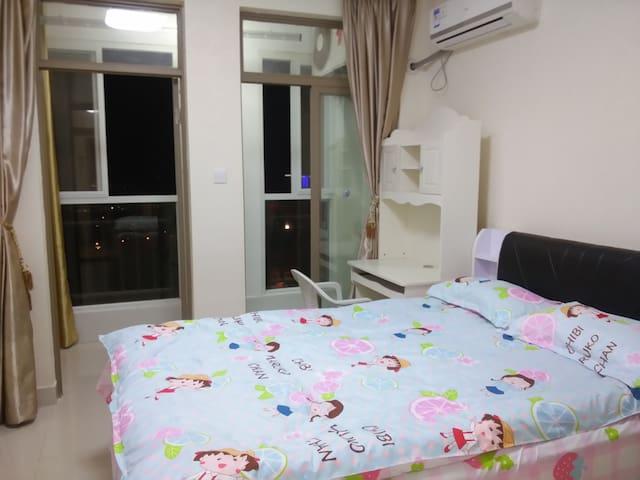 博仕后购物广场温馨双人房 - Fuzhou Shi - Condominium