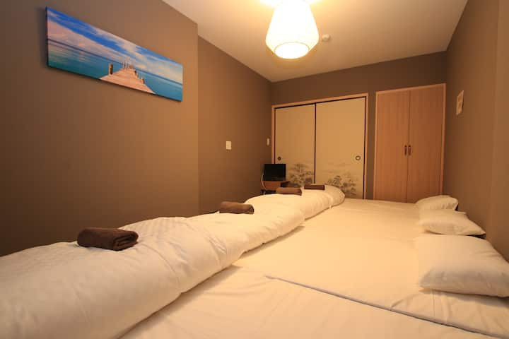 ☆One Piece Room☆5 beds/6 ppl stay/Quiet house