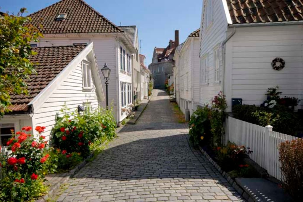 Old Town of Stavanger only a short walk away