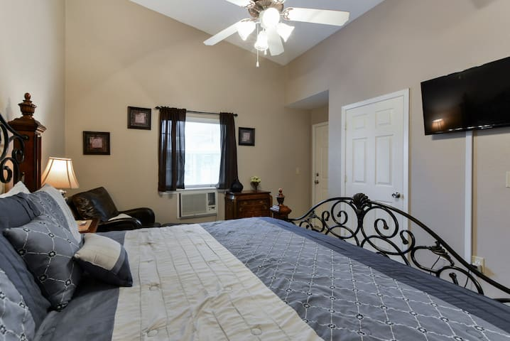 2nd Suite with TV and Ceiling Fan