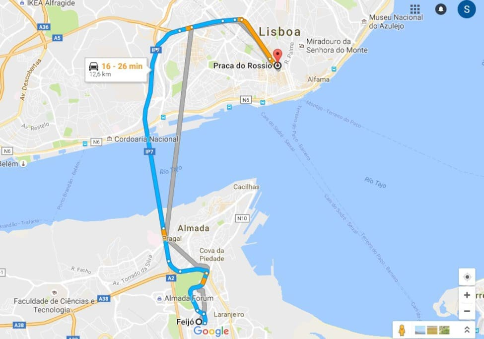 The apartment is not in Lisbon, that´s why i recommend it specially for people who are travelling by car (and on a budget). It takes 20 minutes more or less to get to Lisbon centre (must avoid the rush hours).