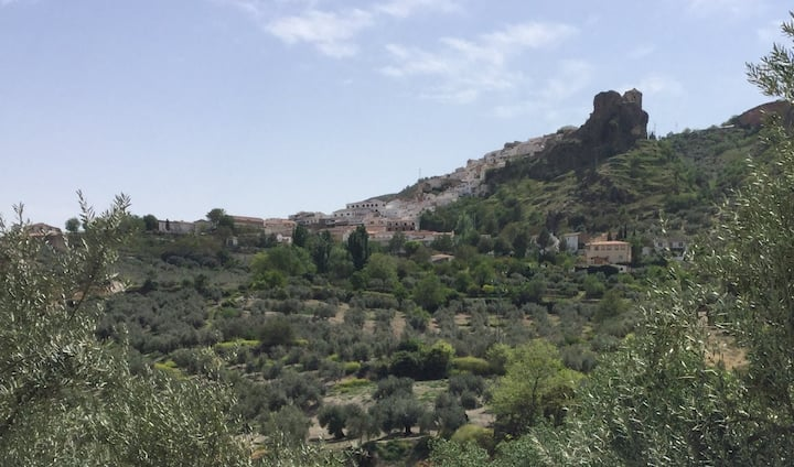 Large double room in mountain house near Granada