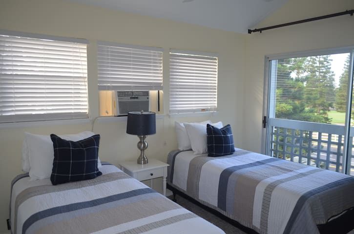Guest Bedroom: 2 X-Long brand new Twin Beds with A/C to help reduce the road noise.
