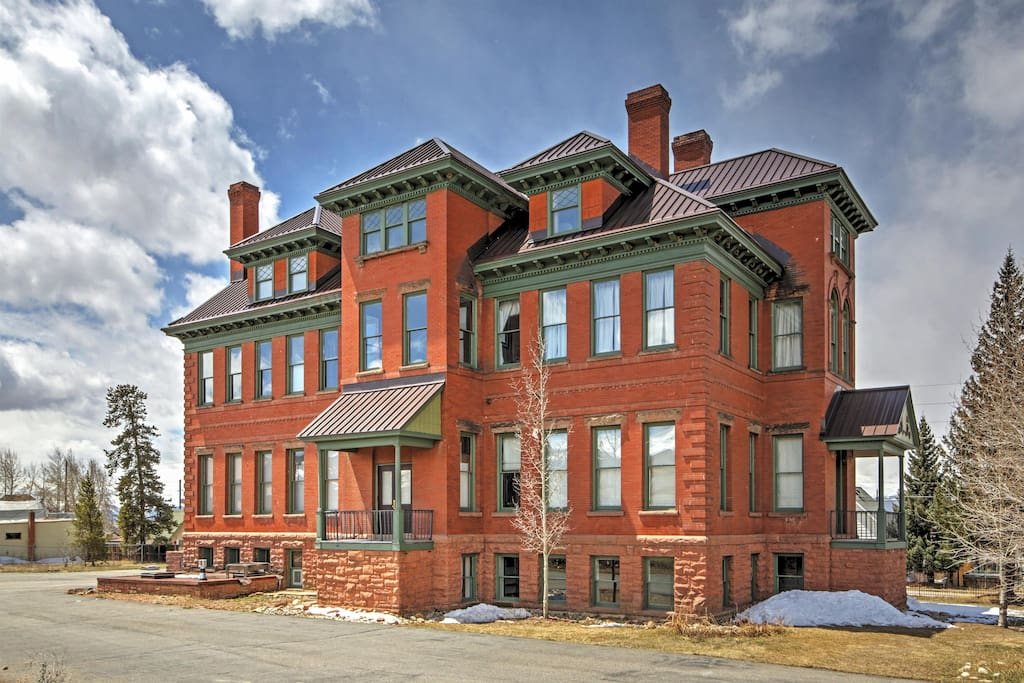 This stunning Leadville vacation rental condo sits within  a beautiful, old converted hospital from the 1880's!