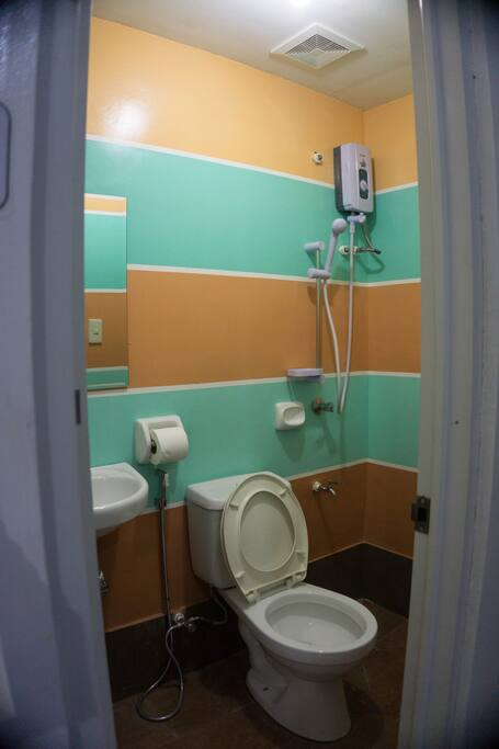This is the Toilet and bath for a single room occupancy.