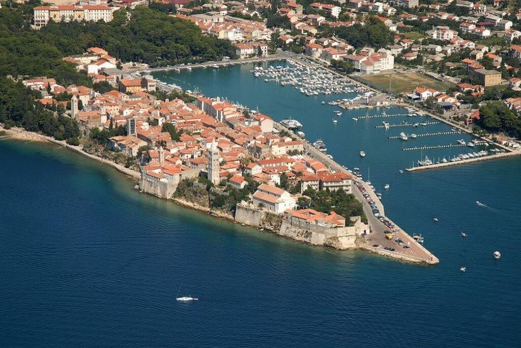 View over Rab Old Town, Island of Rab, Croatia