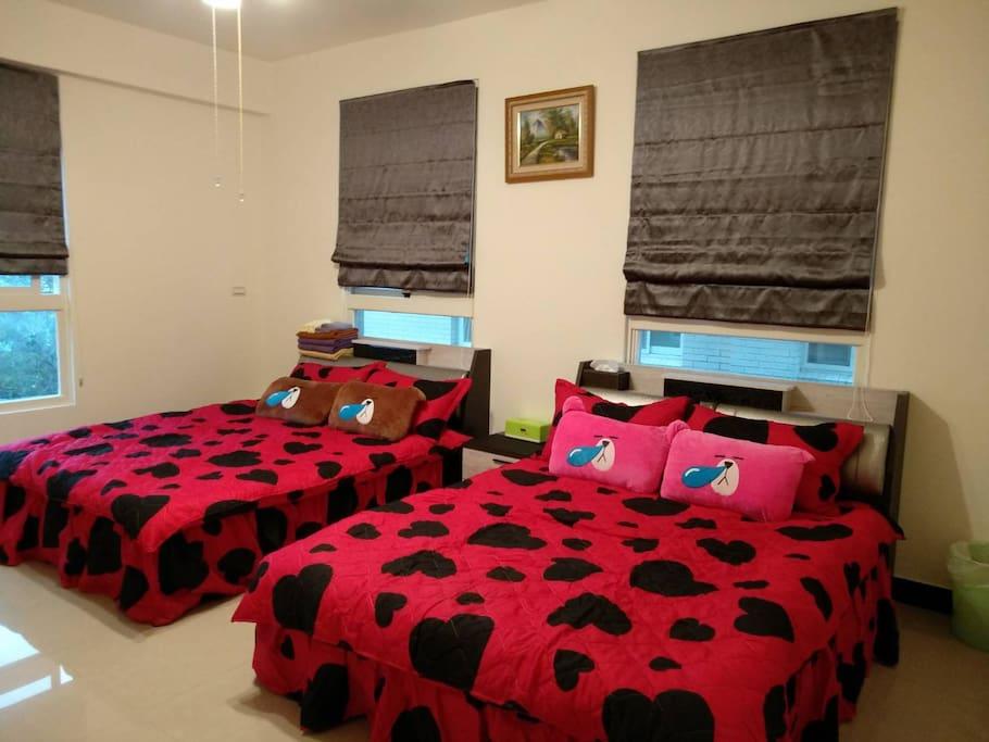 2-4人住宿的超大空間408-409房型號