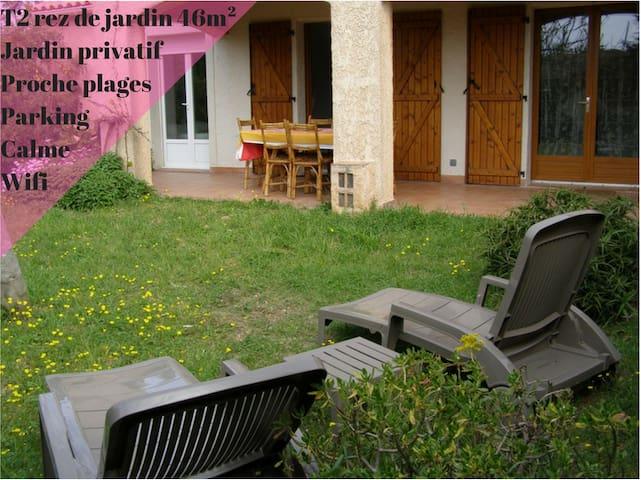 T2 rdj Hyères (Les Salins) 47m²