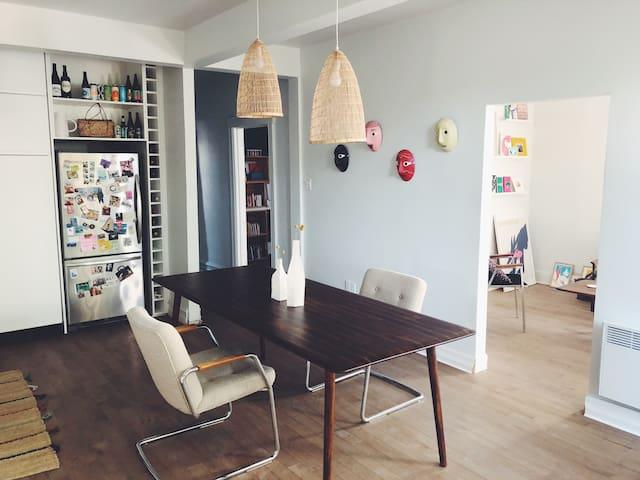 Chambre bel appartement + Terrasse Jean Talon