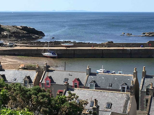 Double room with stunning views of Moray Firth