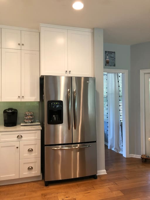 French door refigerator with Kuerig coffee maker