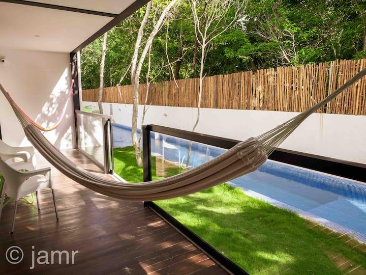 Mayan ruin view, zen, cozy, lux, exclusive