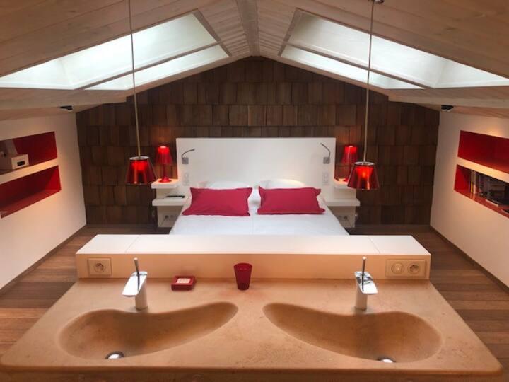 Vanadium d'atHome  - Chambre DUPLEX DESIGN 50 m2