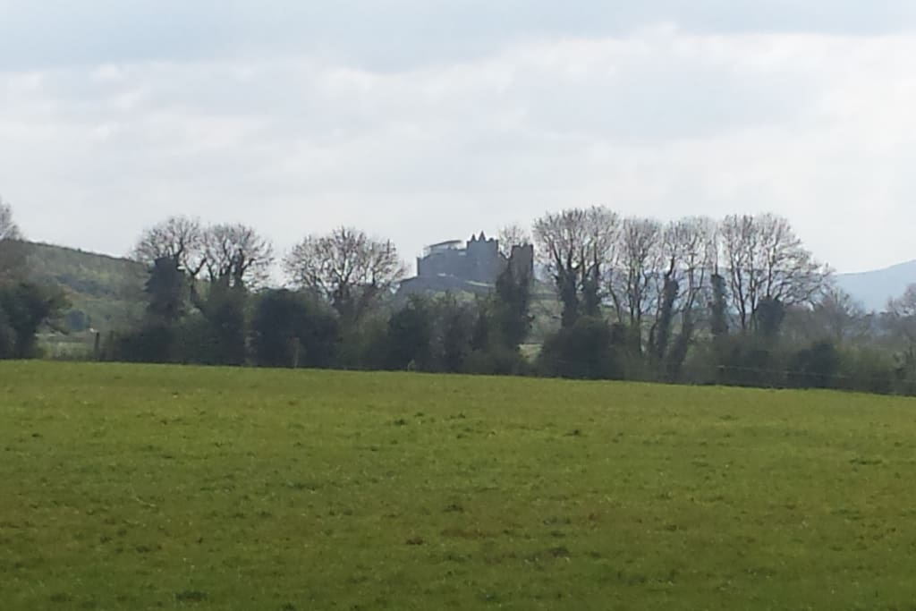 View of Rock of Cashel from garden