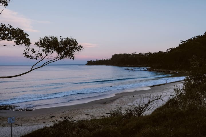 Your South Coast beach escape - South end of Narrawallee beach at dusk