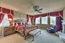 You're ensured a restful night in the master bedroom.