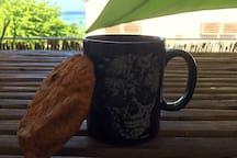 Petit plaisir du matin, les croissants sont a 2 minutes à pieds