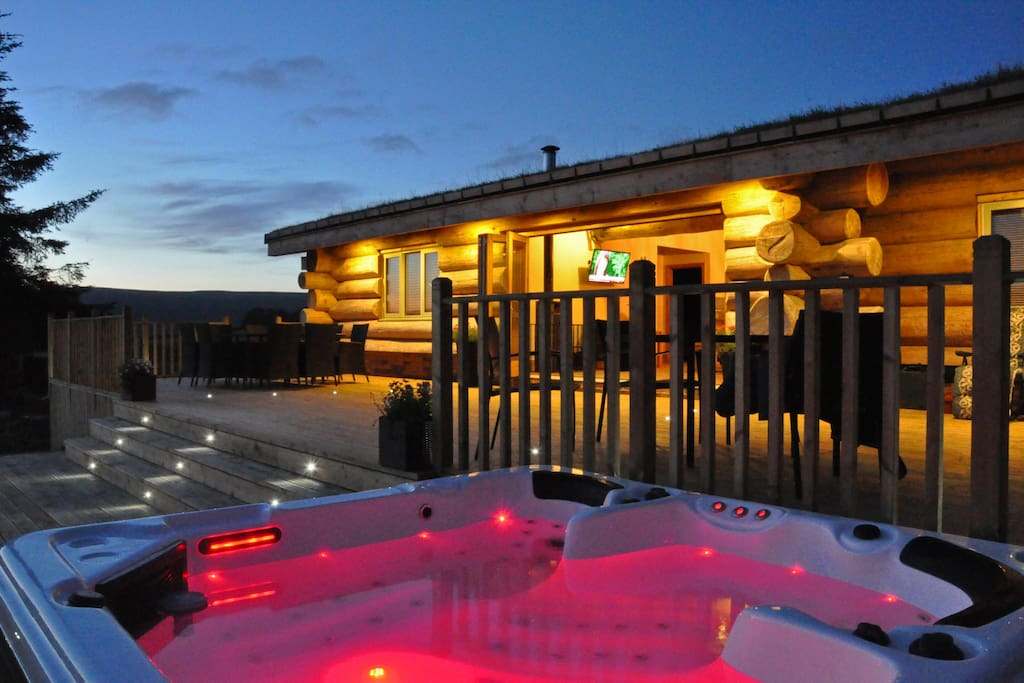 The Hot Tub as the sun sets