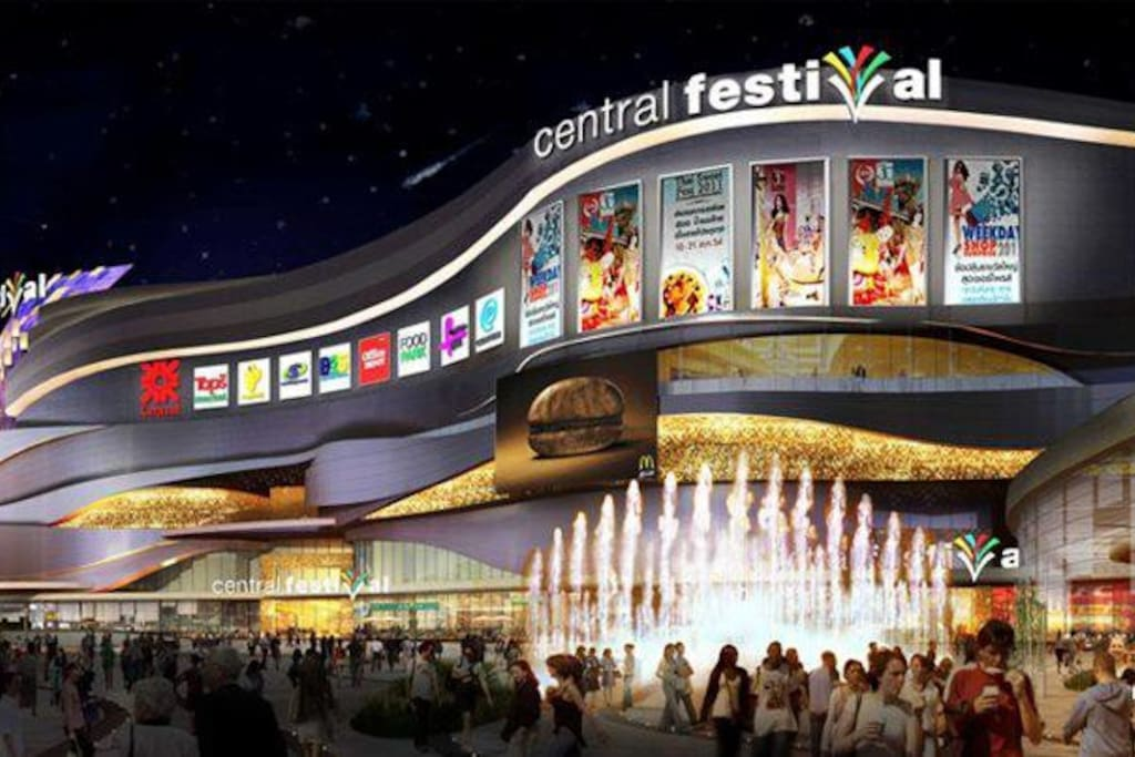 The largest shopping mall in town.