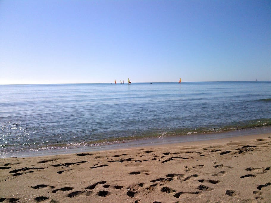 beach in April
