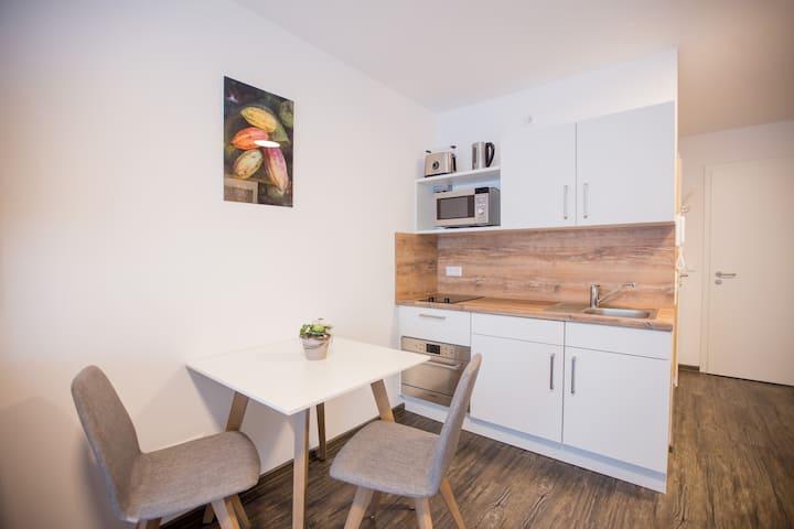 Apartment mit Balkon für 1 Person