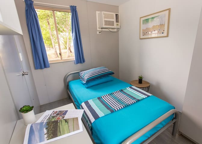King Single Room at Beachfront Accommodation