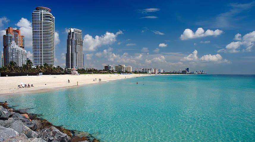 Water View Massive Balcony by Beach FREE BEER! - Miami Beach - Condominio