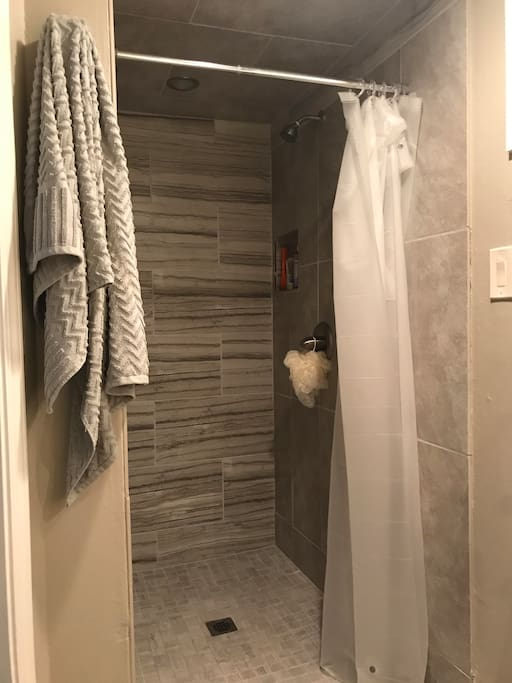 basement shared bathroom shower