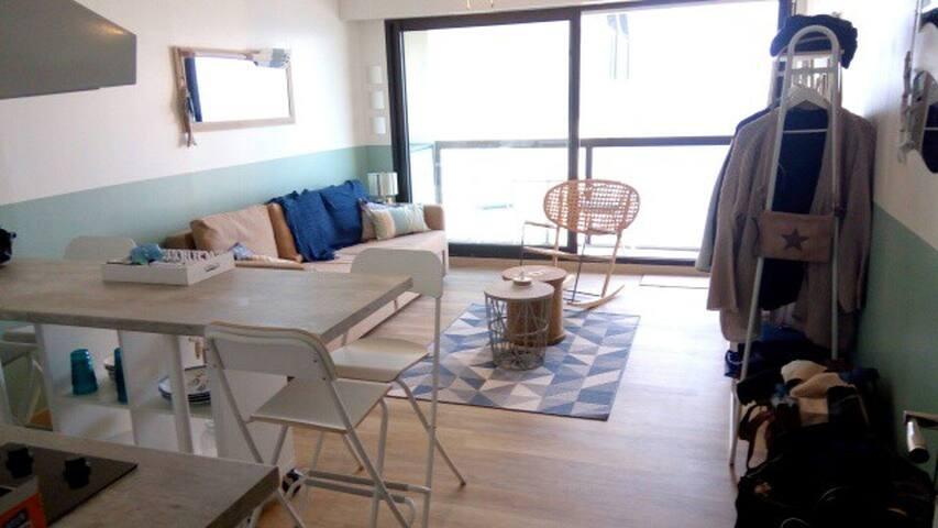Studio entièrement rénové avec vue mer