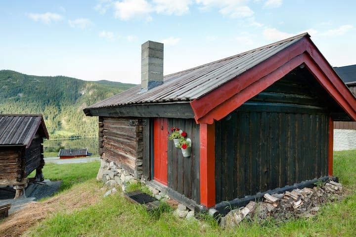 Hytte med utsikt og gratis fiske - Hol - Hytte