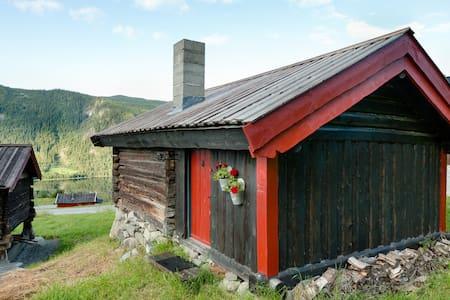Hytte med utsikt og gratis fiske - Hol - Blockhütte