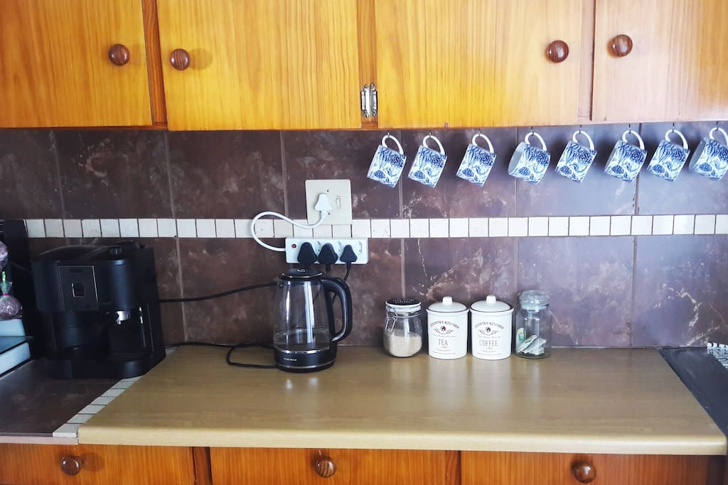 And we all need a good cup of coffee :). Kitchen equipped with stove, oven, microwave, washbasin, fridge, all kitchenware, utensils and cutlery :).