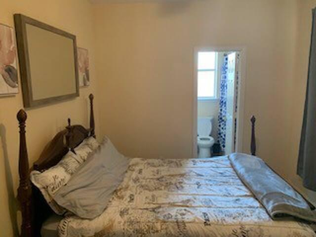 Spacious Queen Size Locked Bedroom