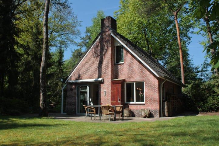 Vakantiehuis met ruime tuin (en wifi) in de bossen
