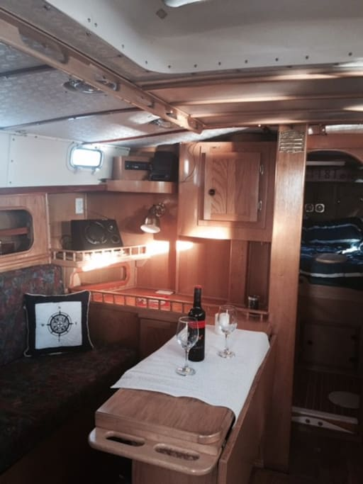 Saloon with large fold out table