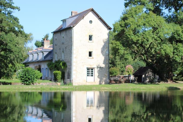 Ancien moulin du XIXe et son étang