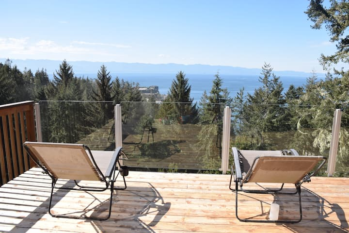 The Cabin: A Sooke Ocean and Mountain View Acreage