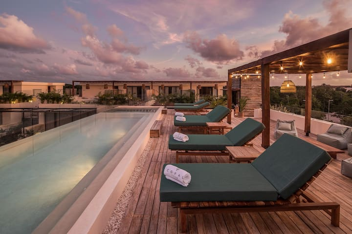 Brand New ☆ Copal Tulum Double Room Jungle Terrace