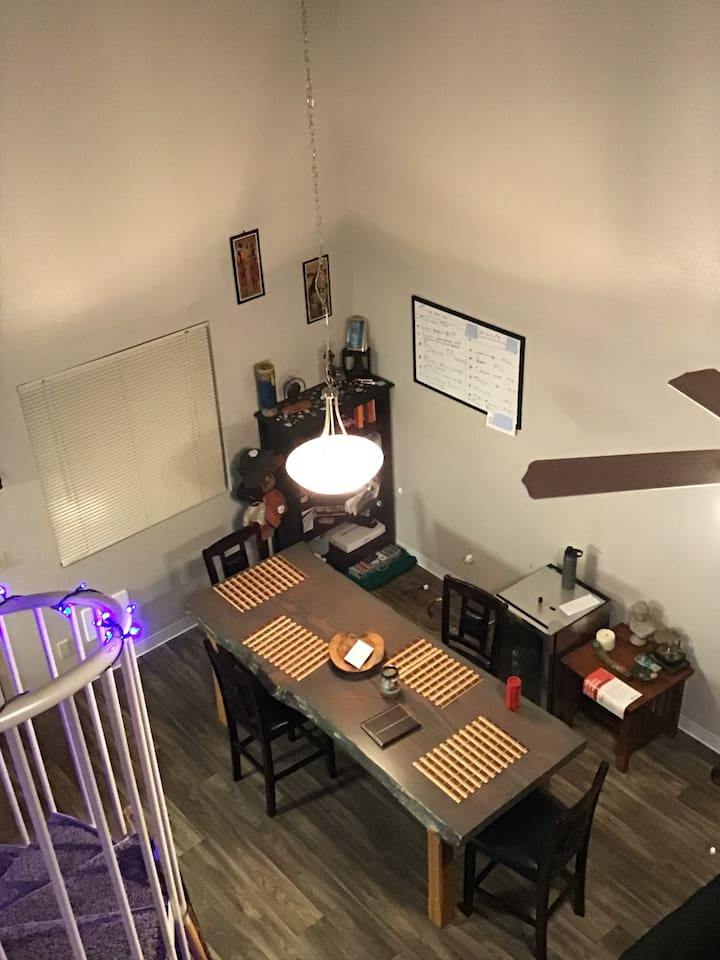 Dining room view from 2nd floor