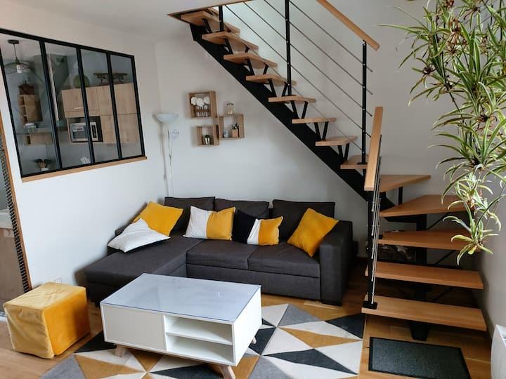 Appartement cosy vue sur le Corton (prox Beaune)