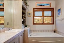Soak in the master bath tub, overlooking the Park City slopes.