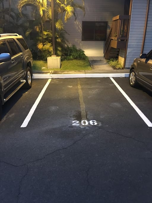 Assigned private parking.