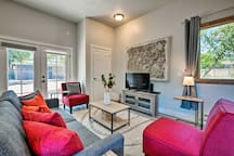 Upscale style and comfortable furnishings await in this West Jordan studio.