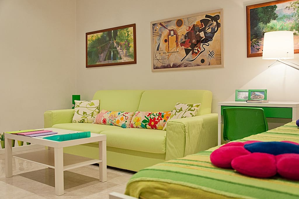 Living Room with 2 sofas bed