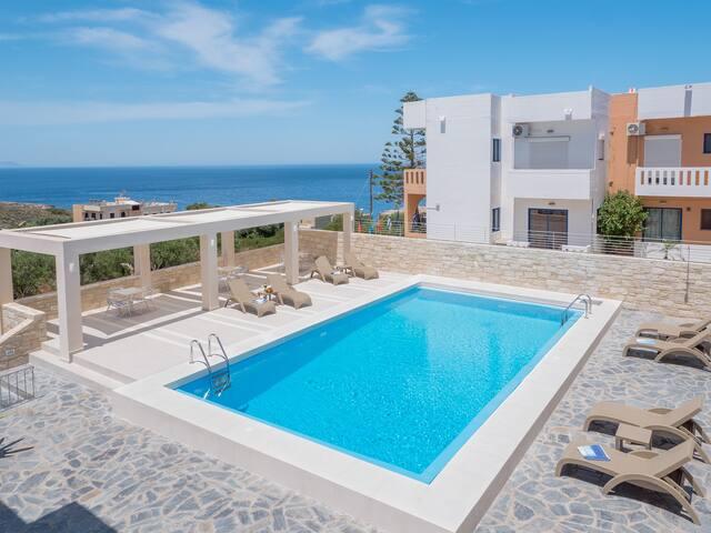 VillaAlexander 2B Apt. Seaview&Pool