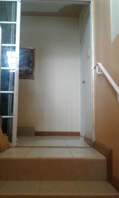 entrance  to the upstairs