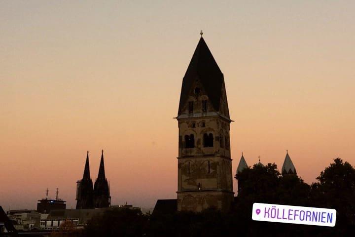 Köln Apartment Panorama Ausblick